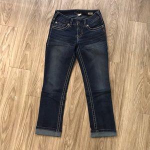 Silver jeans denim Capris